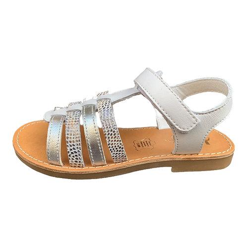 Bopy sandali bambina in pelle con plantare in cuoio chiusura velcro