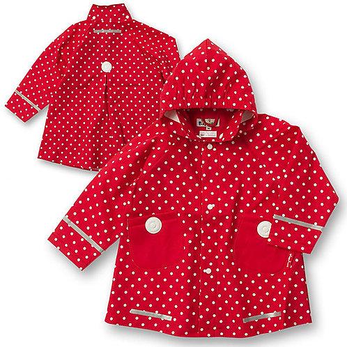 Mantellina Giacca pioggia Playshoes con cappuccio staccabile e chiusura bottoni