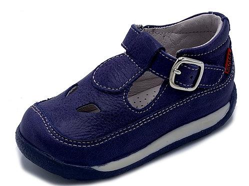 Kickers scarpe 2 occhi semiaperte morbidissime blu Made in Italy