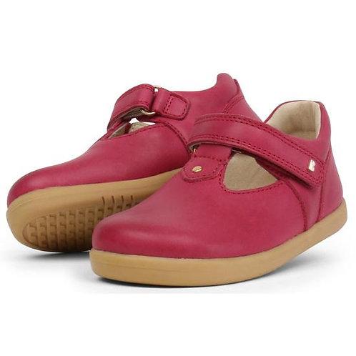 Bobux Louise T-bar scarpe in pelle semi aperte chiusura velcro