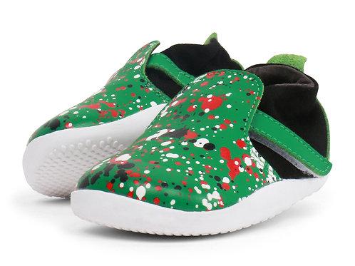 Xplorer Bobux scarpe primi passi super flessibili verde splatter
