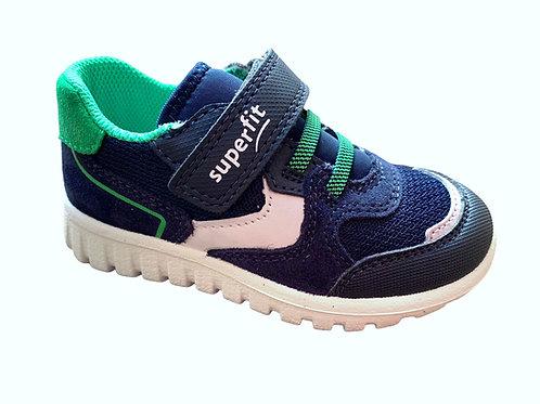 Superfit scarpe ginnastica bambino blu scuro e verde