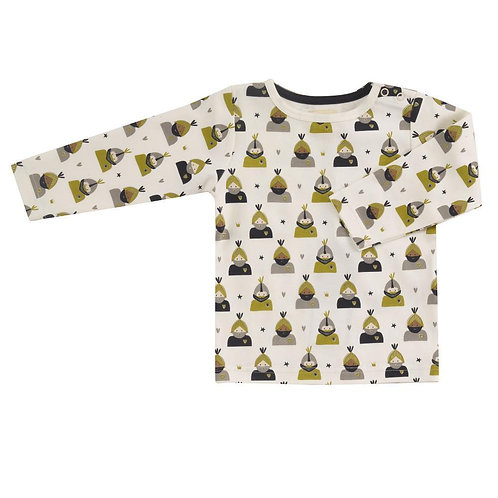 Pigeon T-shirt in cotone organico manica lunga bottoncini