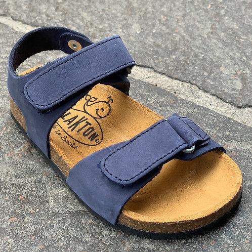 Plakton sandali anatomici suola flessibile nabuk blu Made in Spain