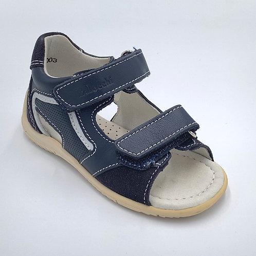 Balocchi sandali sportivi pelle blu con difetto