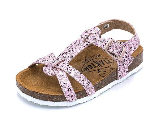 Plakton sandali anatomici suola flessibile glitter rosa Made in S