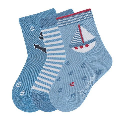Sterntaler calzini corti set 3 paia fantasie varie