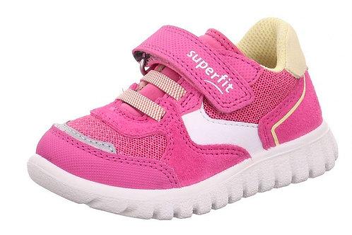 Superfit scarpe ginnastica bambina chiusura velcro e laccio elastico       fuxia