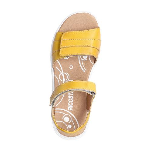 Ricosta Johana sandali bambina gialli con velcro
