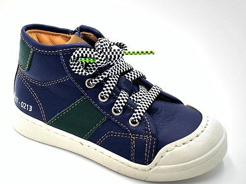 Ocra scarpe sportive bambino in pelle certificata laccio cerniera Made in Italy