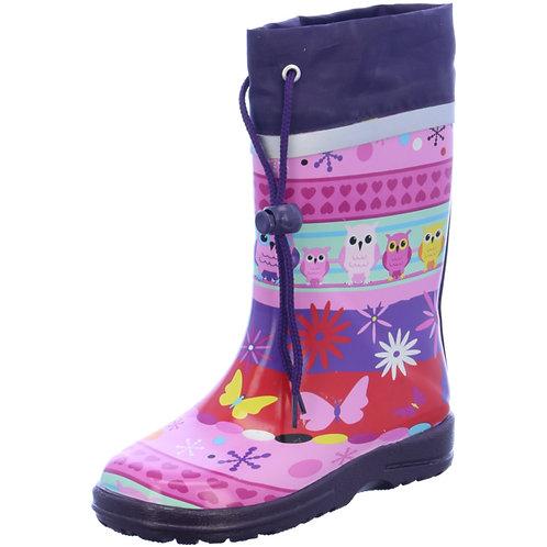Stivali di gomma con coulisse civetta Gummistiefel Eule