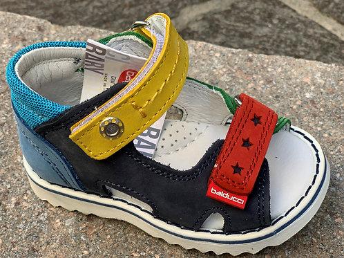 Balducci sandali bambino multicolor in pelle chiusura velcro