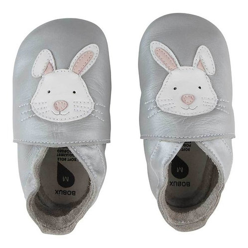 Bobux soft sole Coniglietto argento