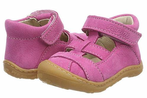 Pepino Lany nabuk naturale fuxia scarpe semi aperte