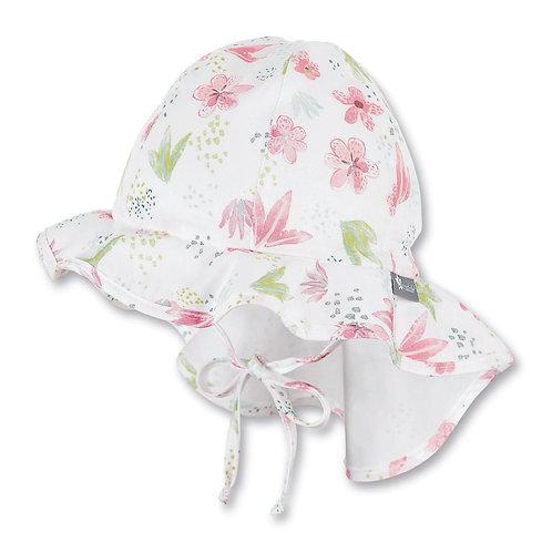 Sterntaler berretto cappello sole in cotone con laccetti