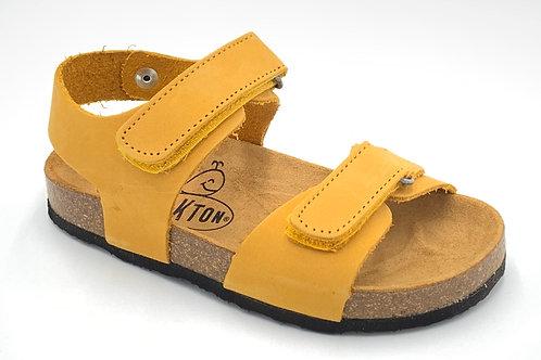 Plakton sandali anatomici suola flessibile nabuk giallo Made in Spain