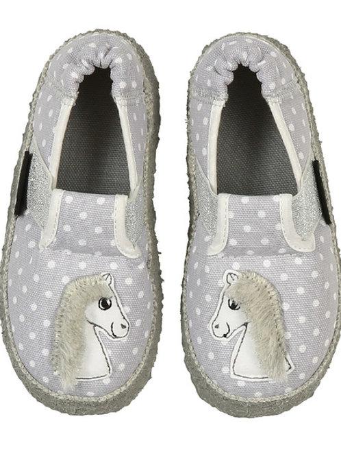 Nanga Pantofole cotone casa asilo morbidissime femmina cavallino grigio