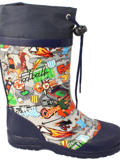 Stivali di gomma con coulisse calciatori Gummistiefel