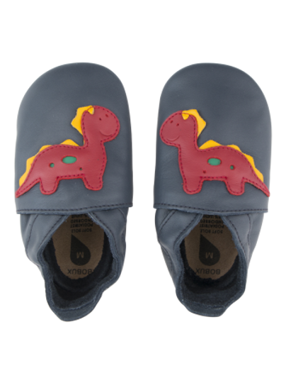 Bobux soft sole Dino blu