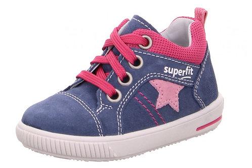 Superfit scarpe sportive bambina in pelle allacciate
