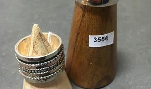 Bagues THEMA multi anneaux argent 925, or rose et jaune laminé. Modèle large conseillé au majeur.