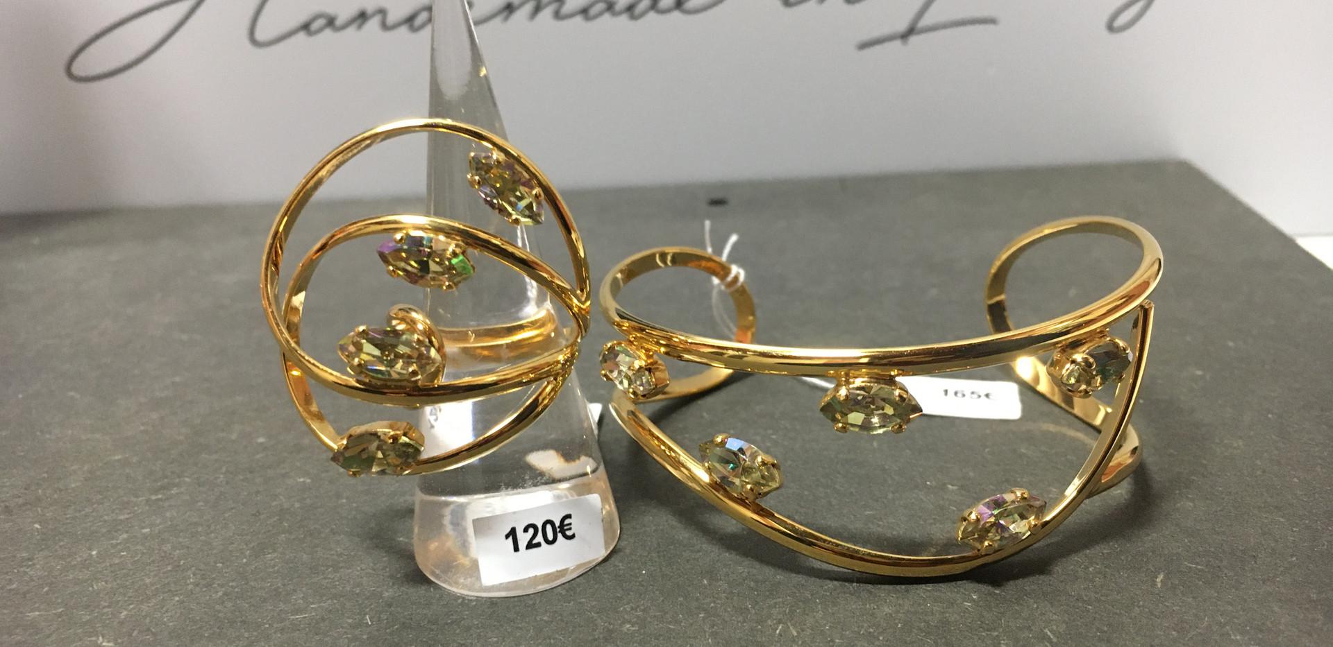 Ligne plaqué or jaune  Bague 120€ Bracelet 195€