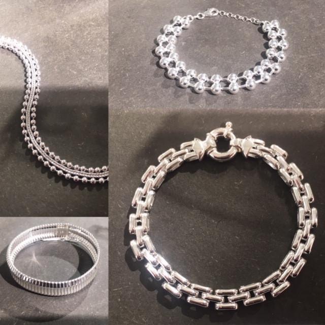GUIOT De BOURG Paris, Nouveaux bracelets argent 925. Nouvelles mailles.