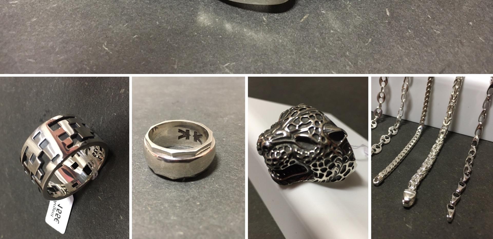 Nouveauté IKKU, bijoux en argent pour un style unique. HOMME Bracelet os de dragon 340€ Bague 155€ Bague méditation 220€ Bague panthère 140€ Choix bracelet maille à partir de  55€