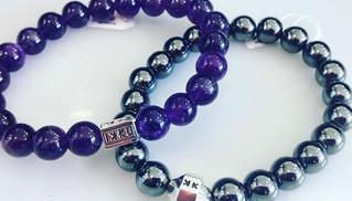 Bracelet mixtes hématite, améthyste, perle naturelle. Choix en bijouterie, oeil de tigre, obsidienne, malachite, jaspe... a partir de 25€
