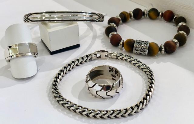 Bijoux IKKU argent 925 bague meditation bracelets maille & rigide-
