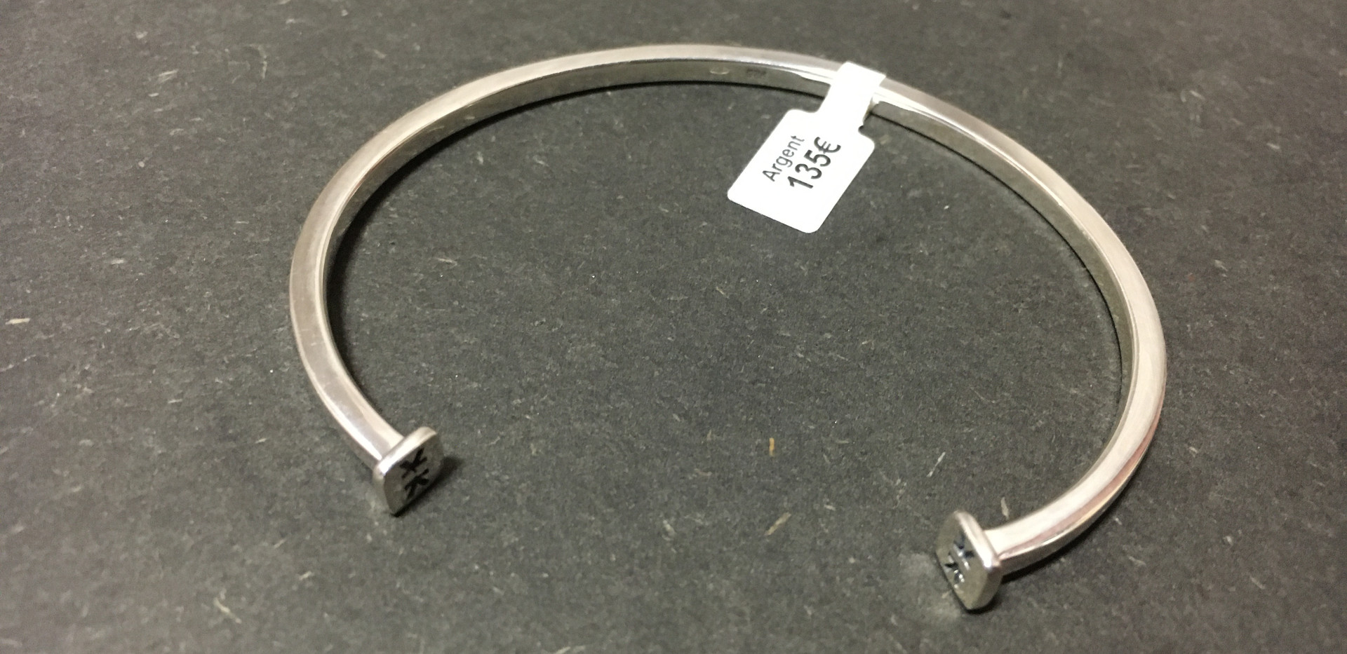 Bracelet IKKU esclave, fils carré, argent 925.