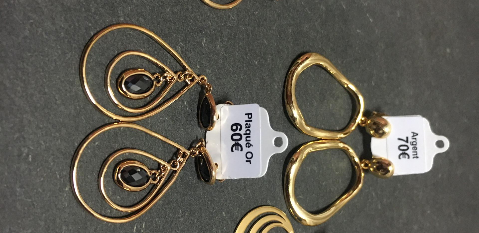 Choix boucle oreille plaqué or jaune, fermoir poussette.