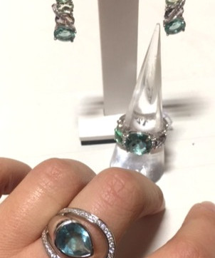 New, bague quartz couleur oxydes! LINEARGENT