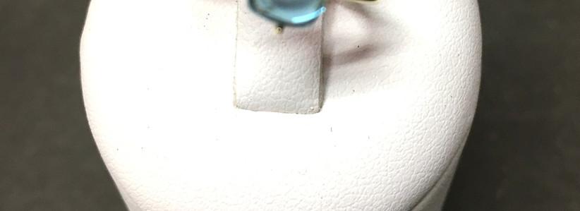 Bagues pierre cabochon topaze blue london et rose; monture or jaune 750. A découvrir en bijouterie les boucles d'oreille et colliers assortis.