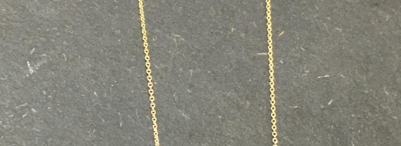 Collier or jaune 750, perle eau douce.