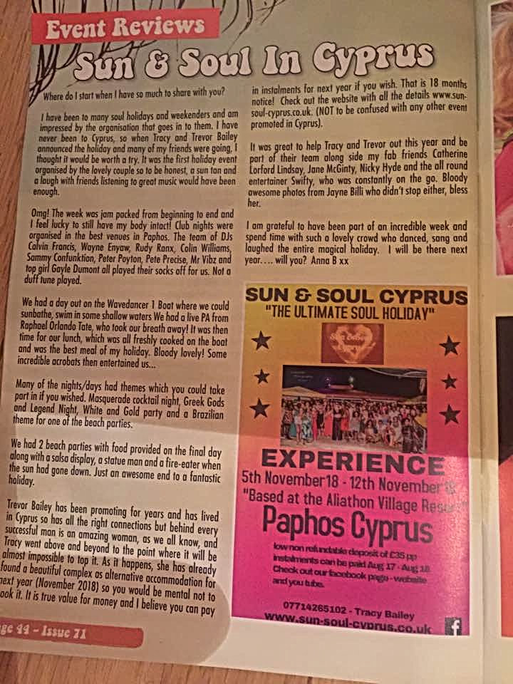 The Soul Survivors Magazine Sun & Soul Cyprus Review