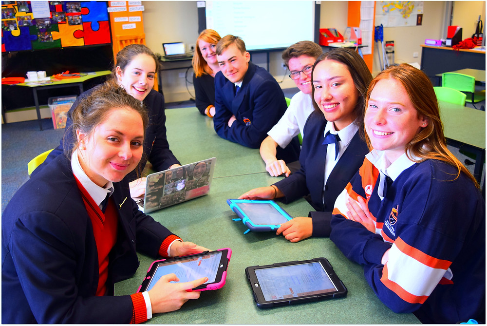 Pictured: Miss Taylor hosted a workshop encouraging students to explore the capabilities of CANVAS