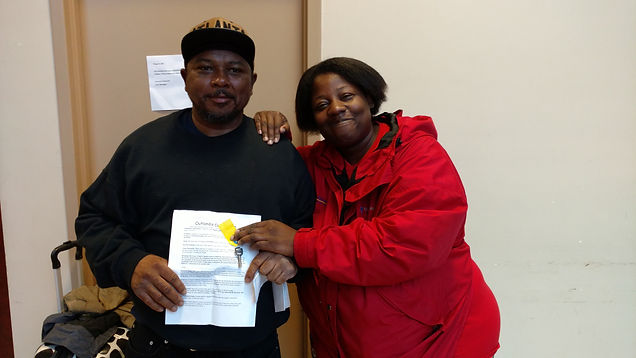 Couple achieves permanent housing.