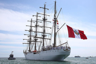 ARRIVAL OF THE PERUVIAN NAVY SHIP (B.A.P) UNION TO THE PORT OF ROTTERDAM