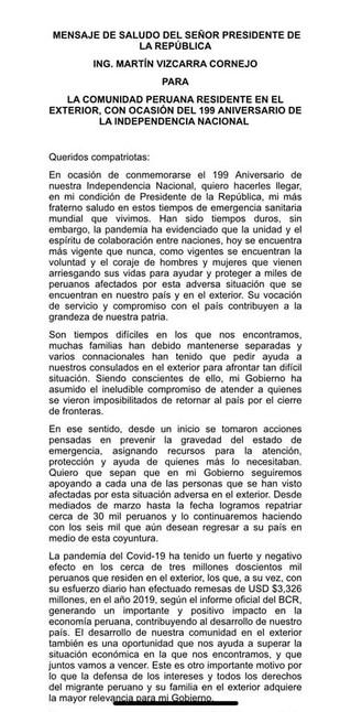 199° Aniversario de la Independencia del Perú