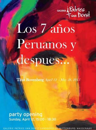 "Painting exposition ""Los siete años peruanos y después"" in support of children from Peru"