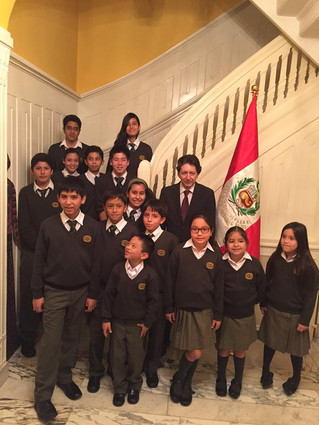 Visit from Students of the Netwon School