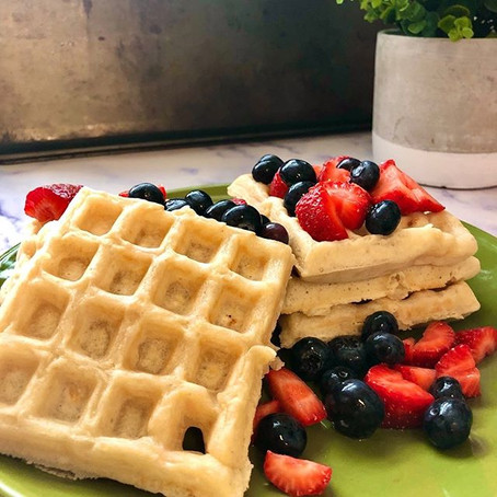 Simple Homemade Vegan Waffles