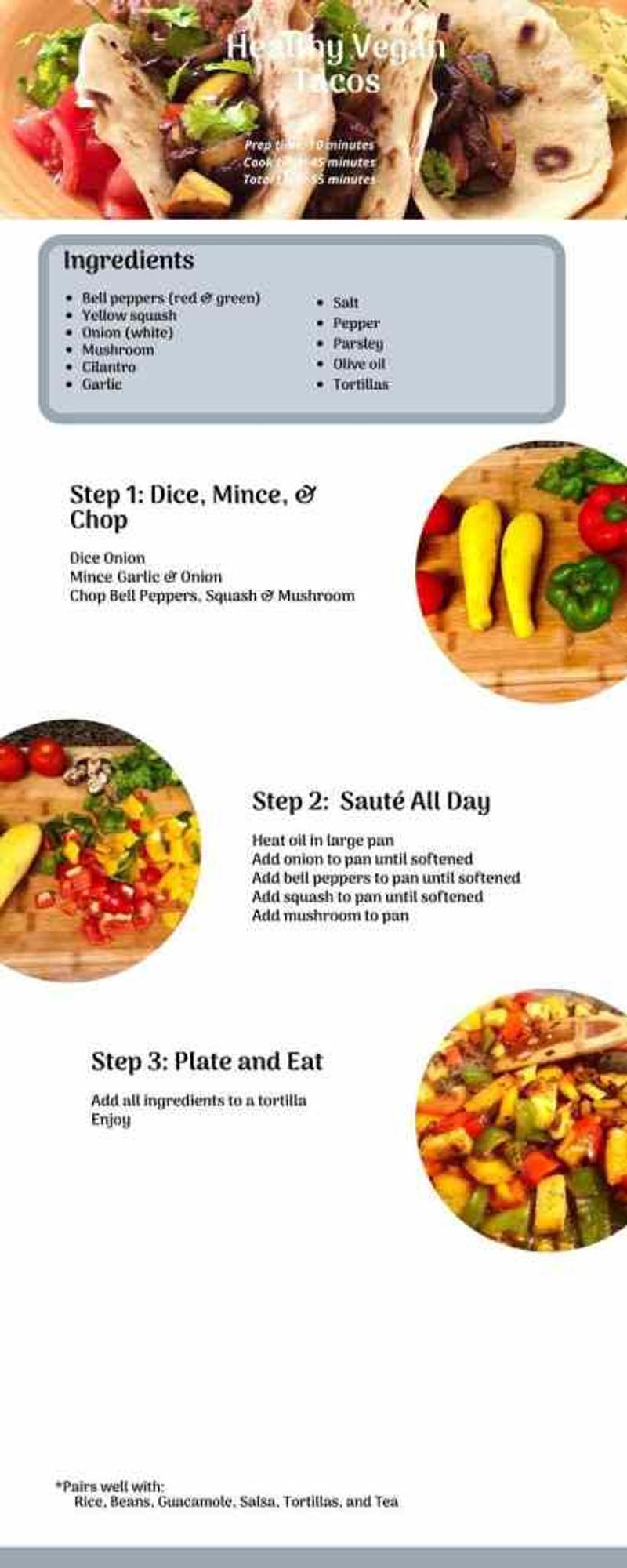 healthy vegan tacos