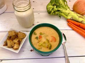 Easy Vegan Broccoli Cheddar Soup