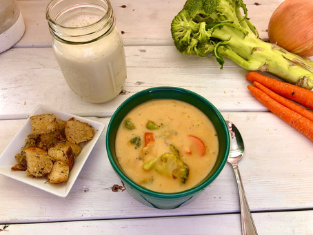 Easy Vegan Broccoli Cheddar Soup