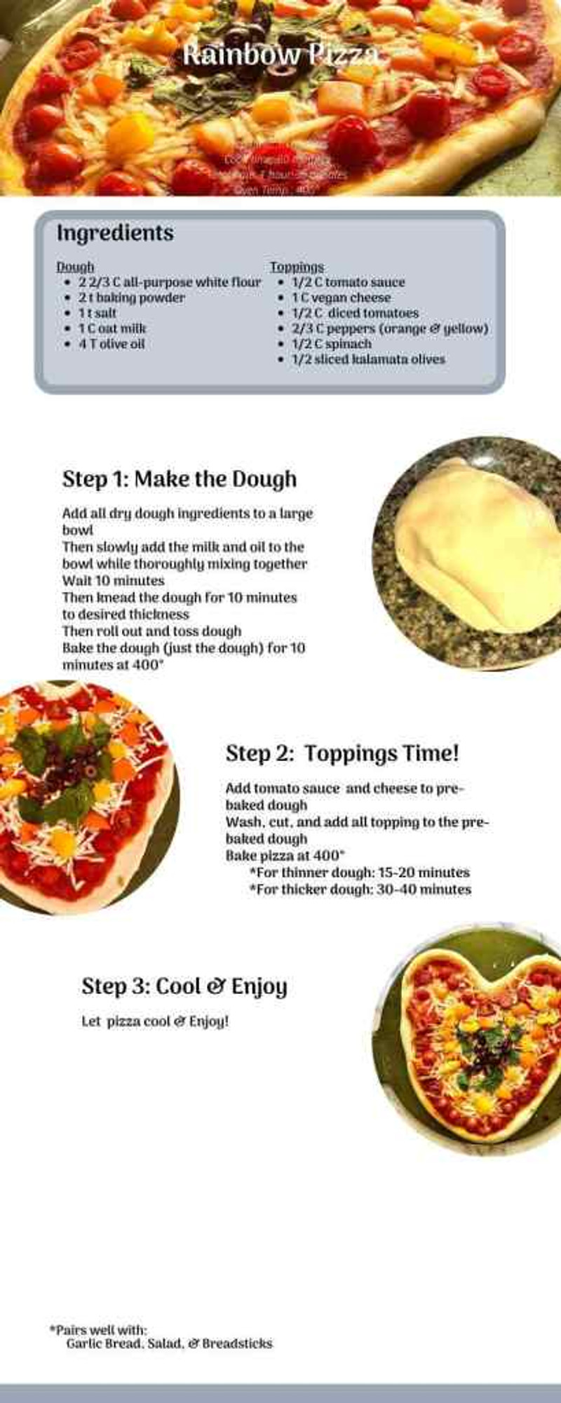 Rainbow Pizza Recipe