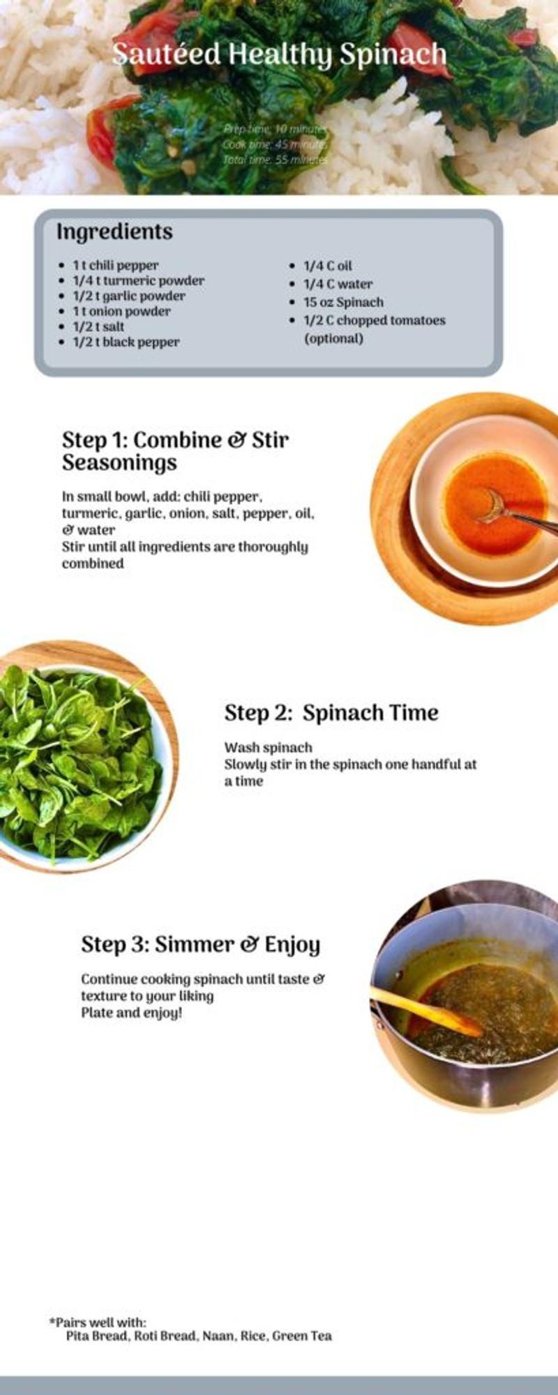 sauteed healthy spinach recipe