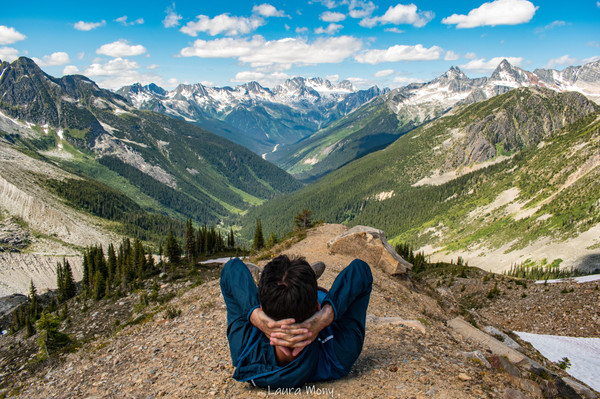 Resting at the top of Alsukan Valley