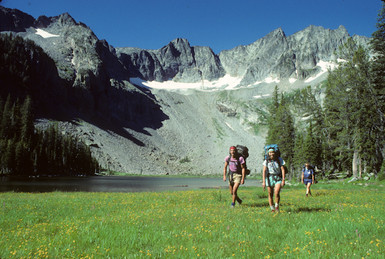 Backpackers Crazy Mountains - George Wuerthner